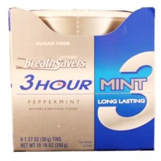 BREATH SAVERS 3HOUR MINT PEPPERMINT 8CT