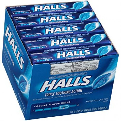 HALLS MENTHOL DARK BLUE