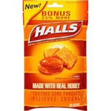 HALLS HONEY  40 DROPS BAG
